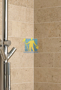 limestone tiles shower moleanos beige Sydney cleaning