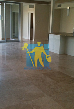 extra large porcelain floor tiles after cleaning empty room with kitchen Narraweena