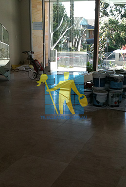 extra large porcelain floor tiles after cleaning empty room with polisher Narraweena